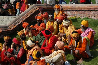 A team of Sadhus